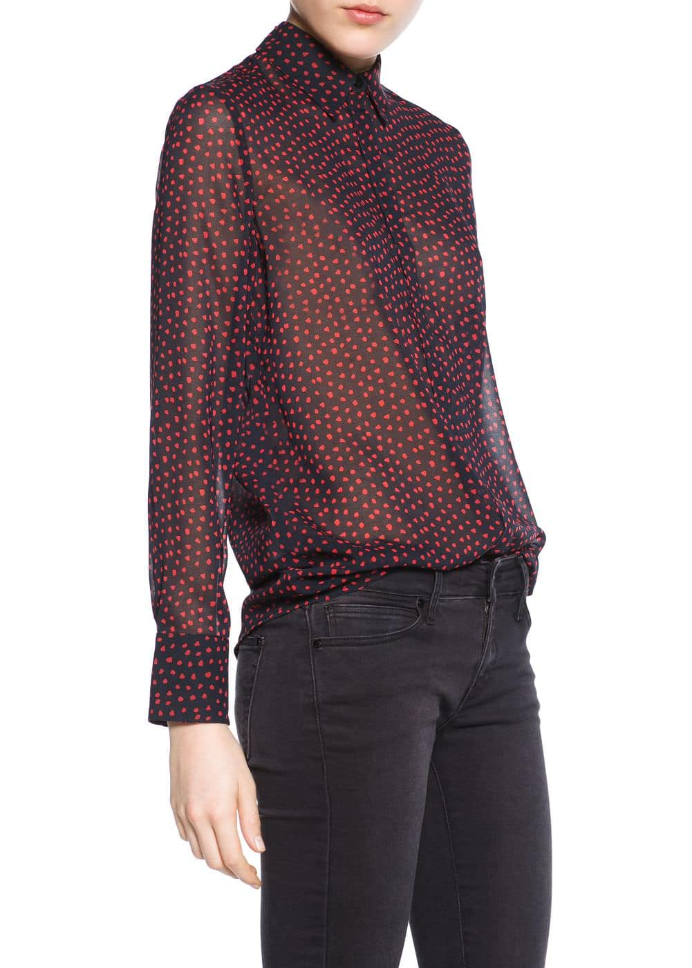 Printed lightweight shirt | MANGO