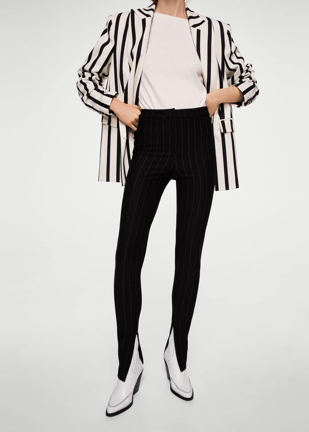 Pinstripe leggings | MANGO