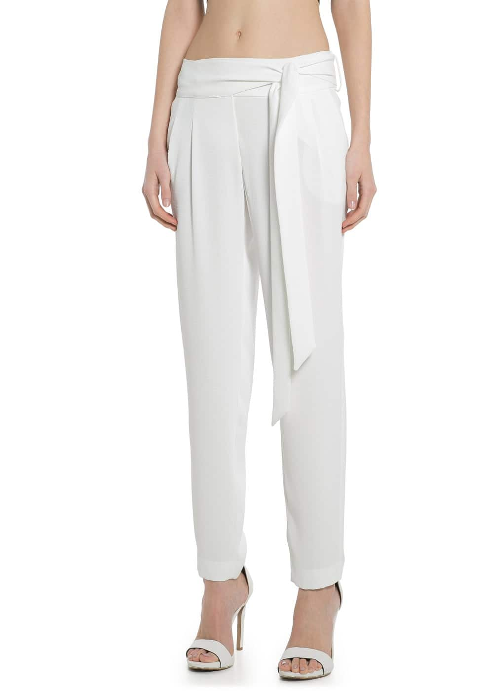 Textured flowy trousers | MANGO