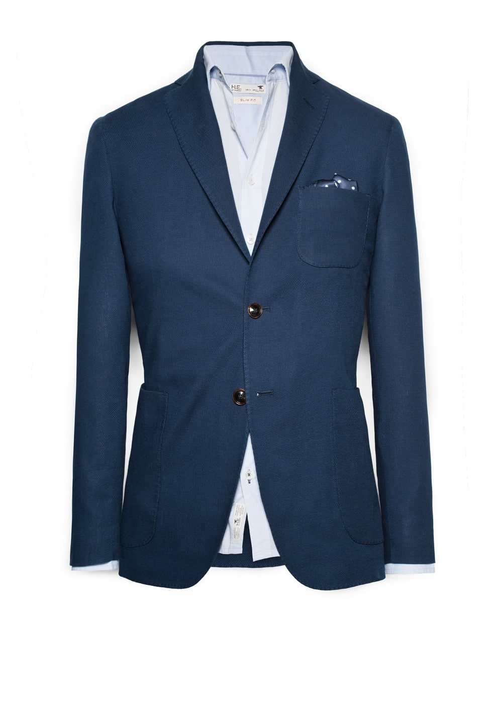 Piqué cotton blazer | MANGO MAN