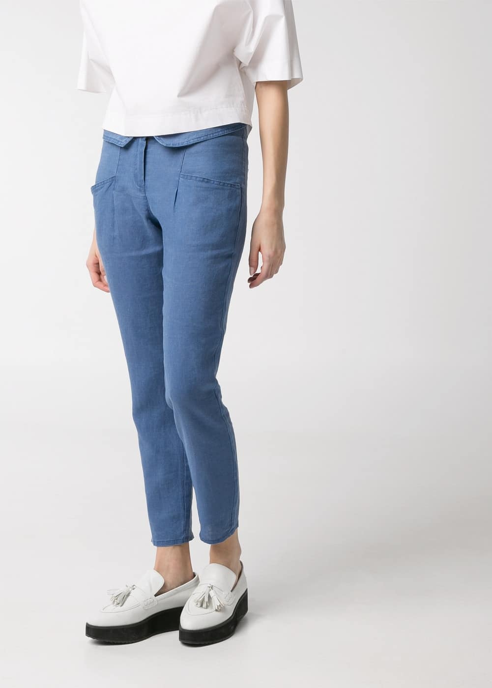Folded waist trousers | MANGO