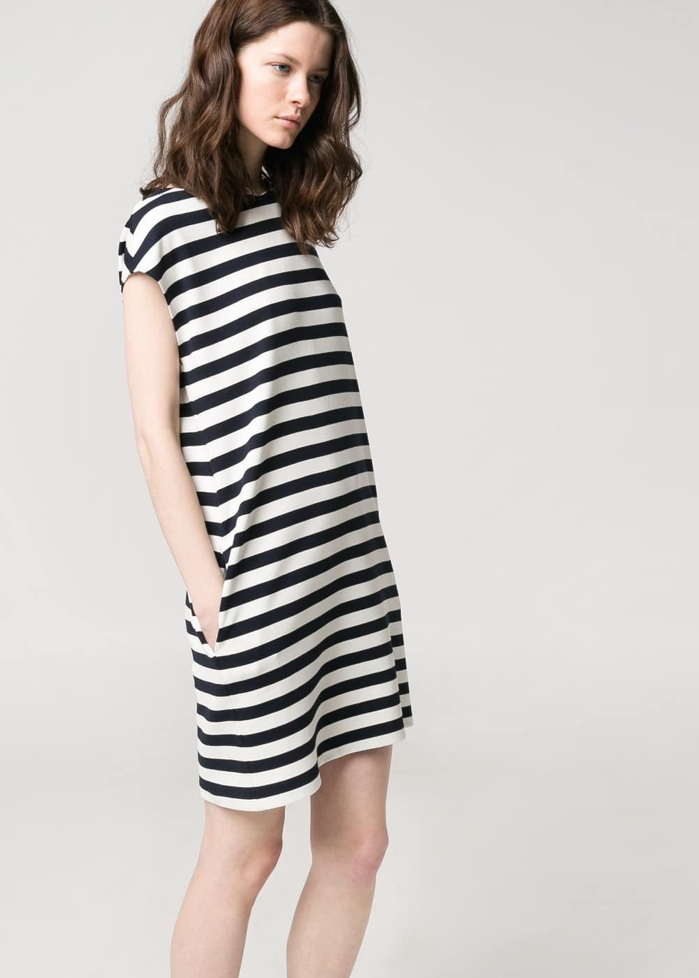 Striped ponte dress | MANGO