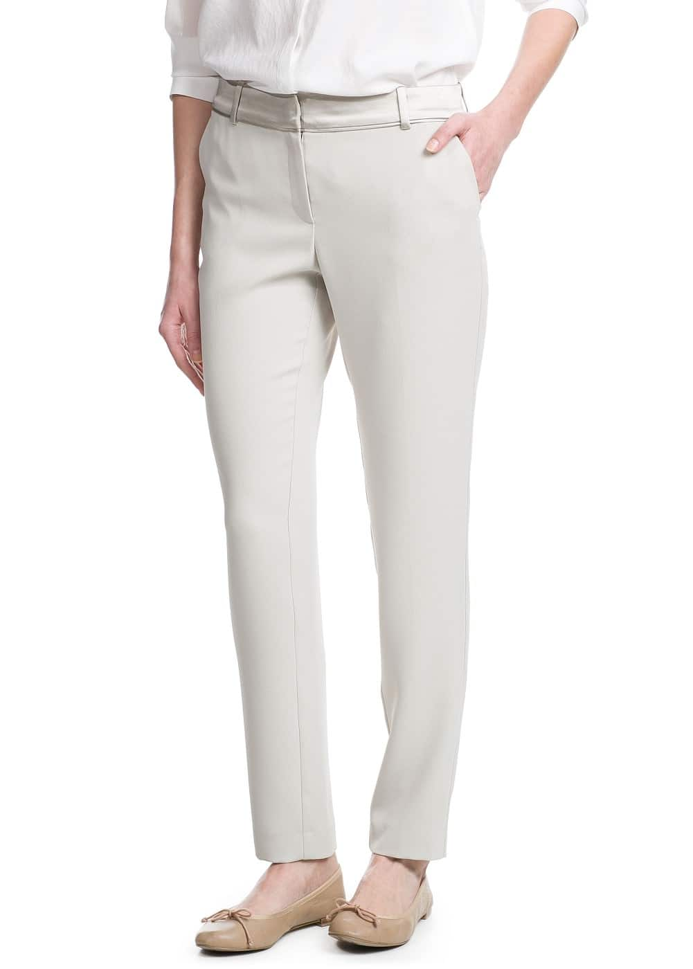 Satin waist trousers | MANGO