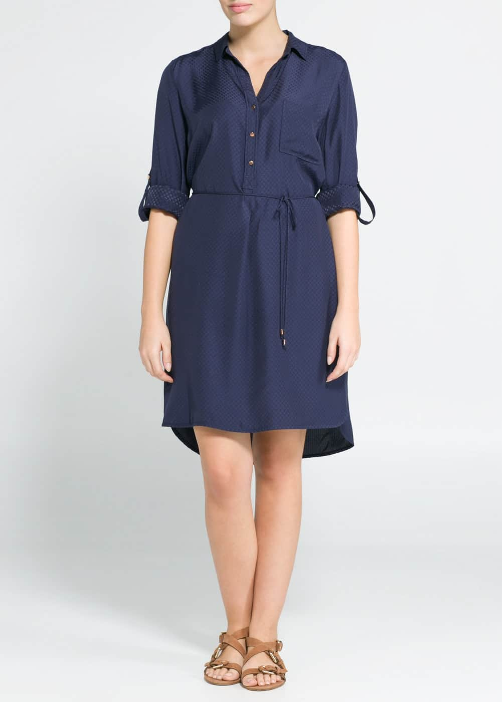 Textured shirt dress | MANGO