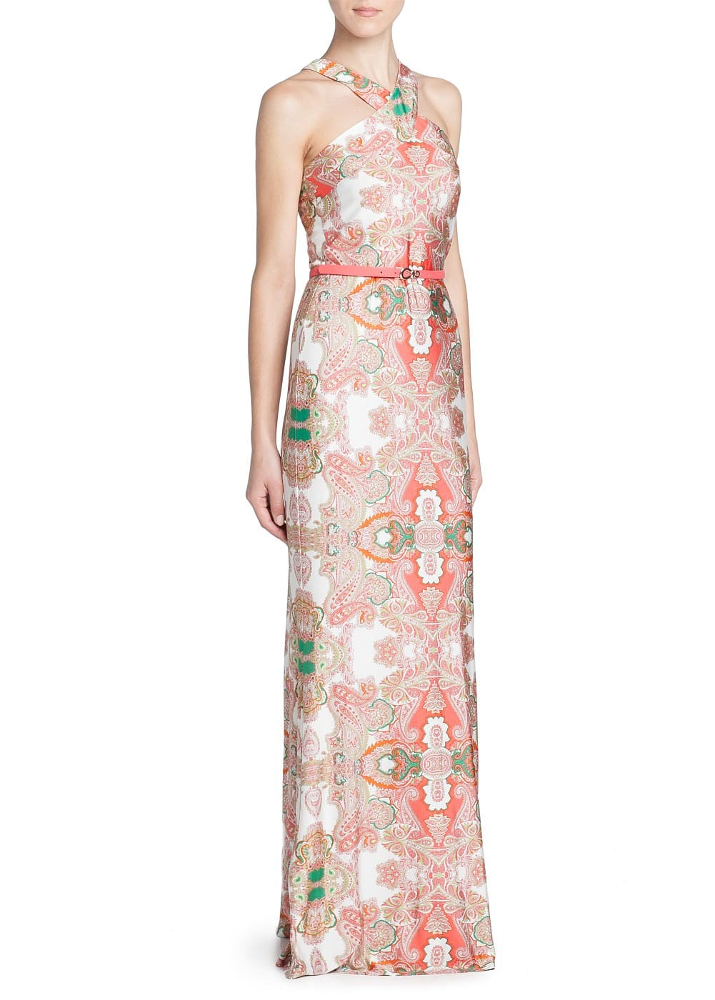 Paisley print long dress | MANGO