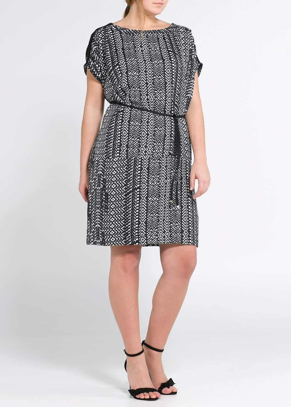 Monochrome print dress | MANGO