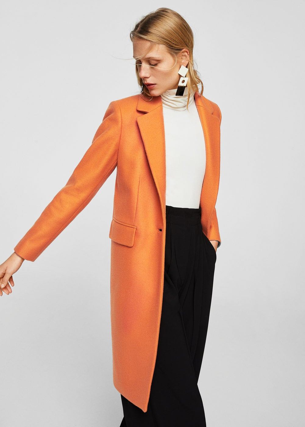 Structured wool coat | MANGO