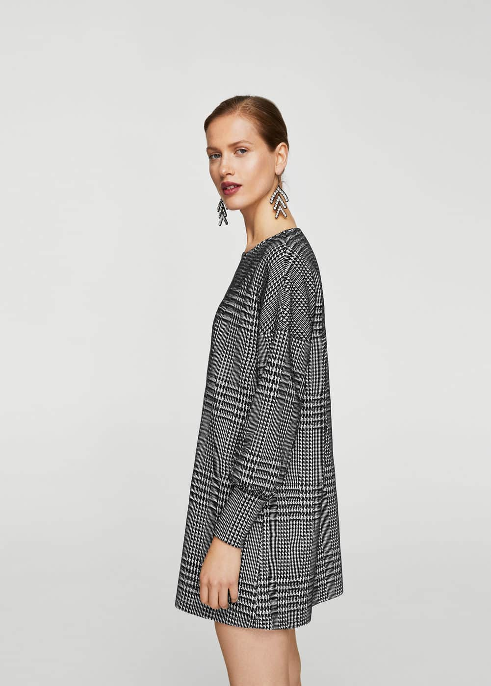 Houndstooth pattern dress | MNG