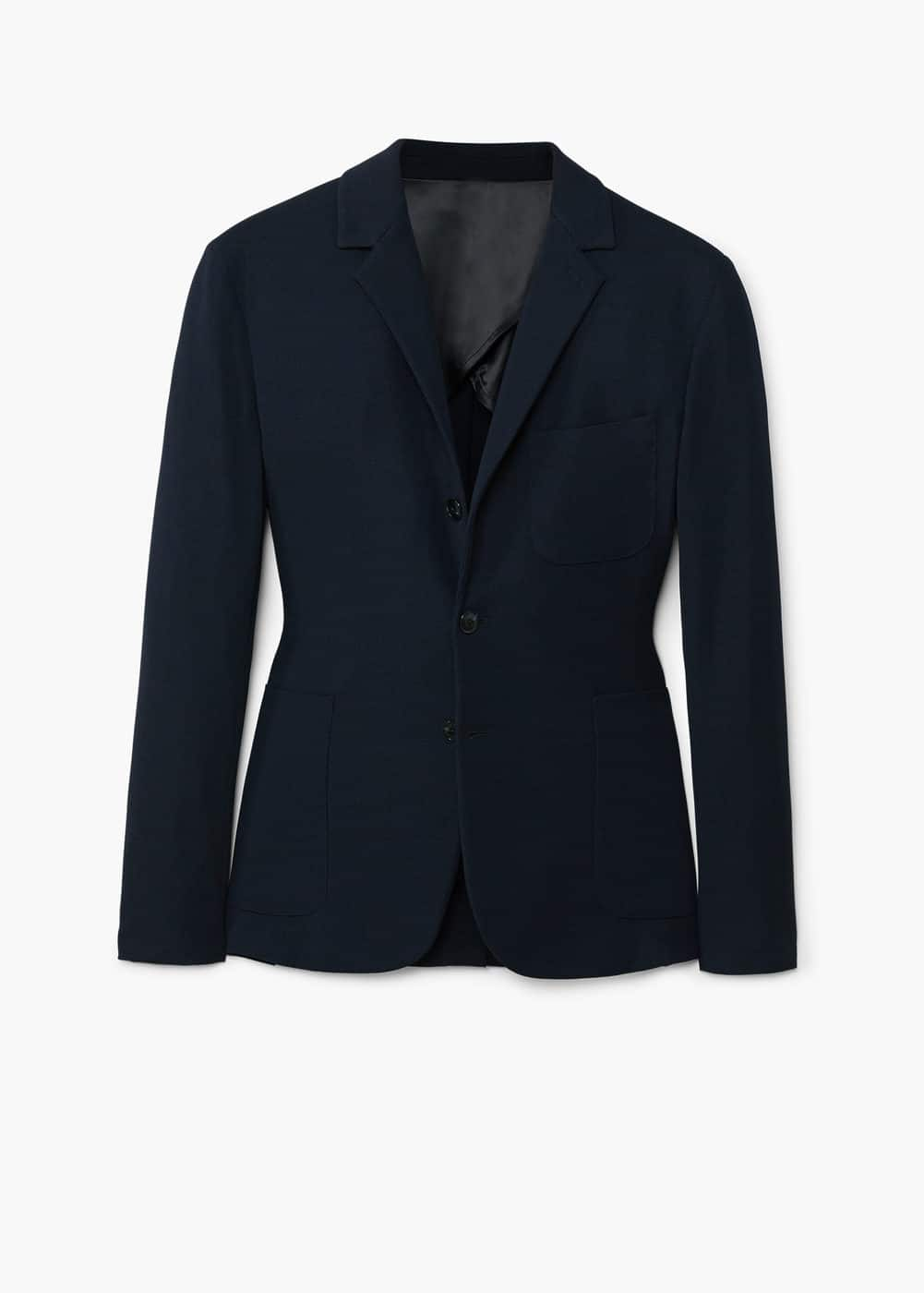 Slim-fit textured blazer | MANGO MAN