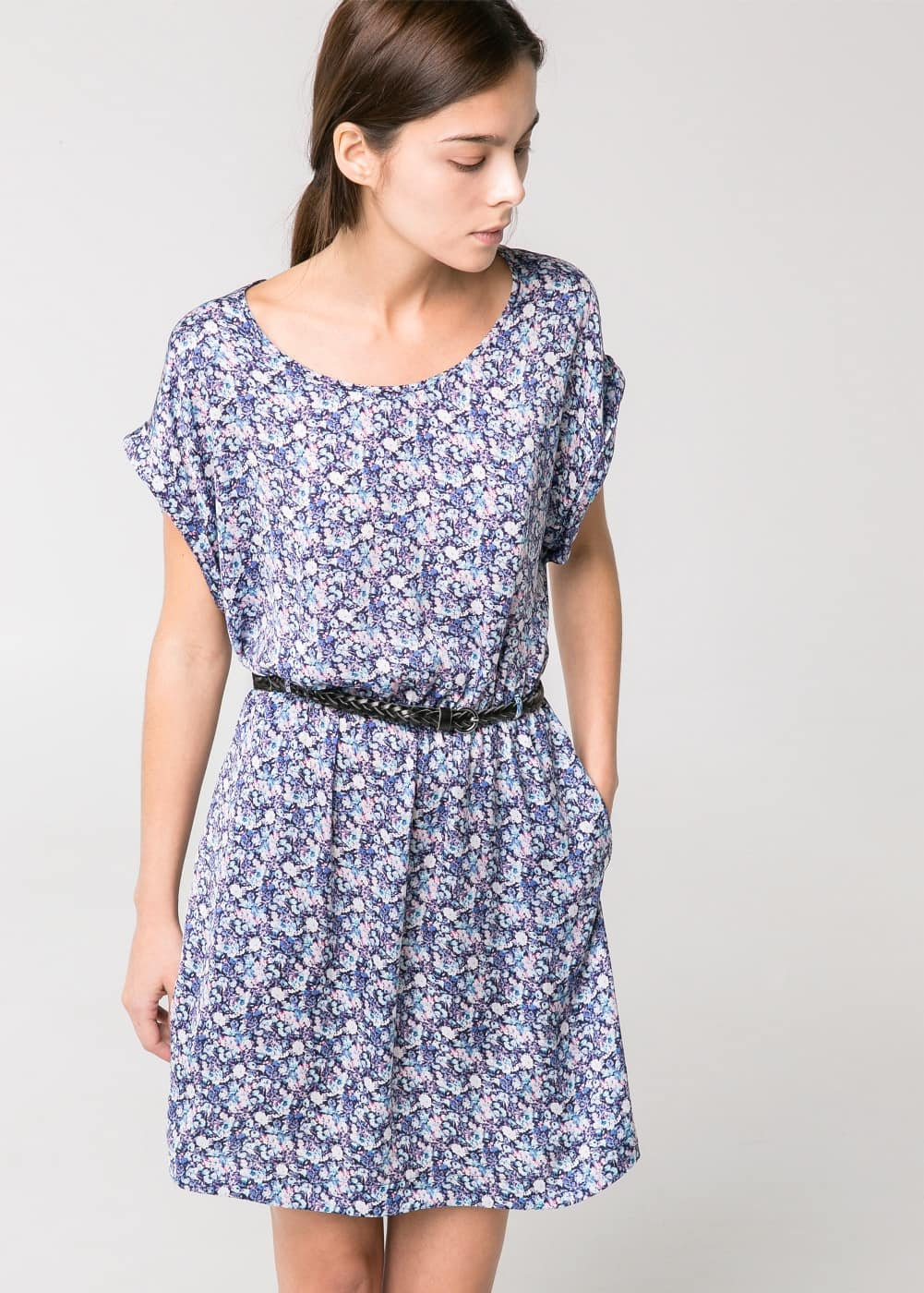 Belted printed dress | MANGO MAN