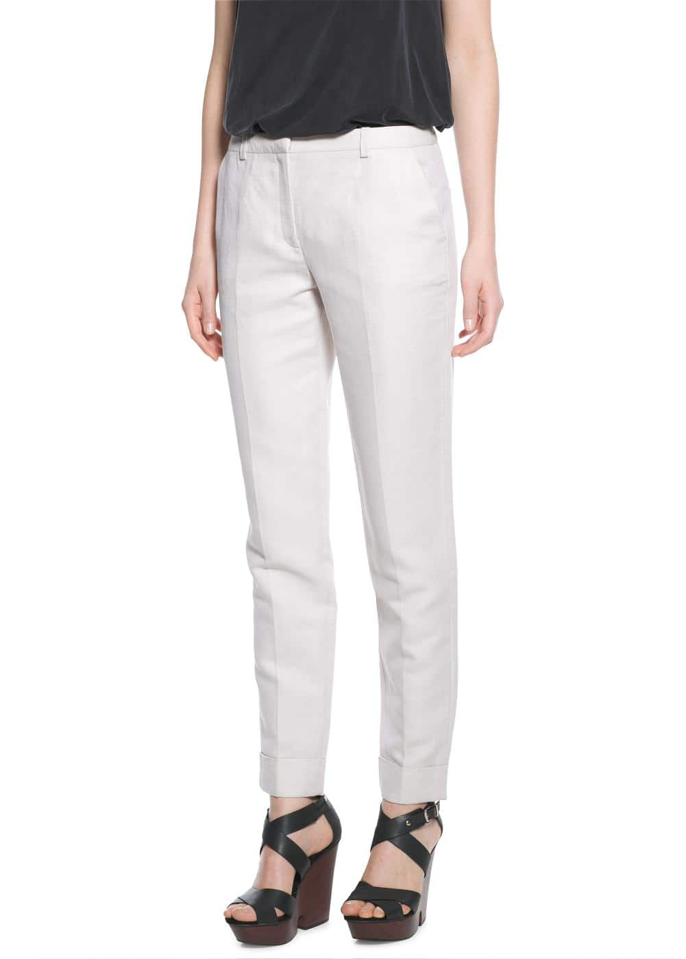 Linen-blend suit trousers | MANGO