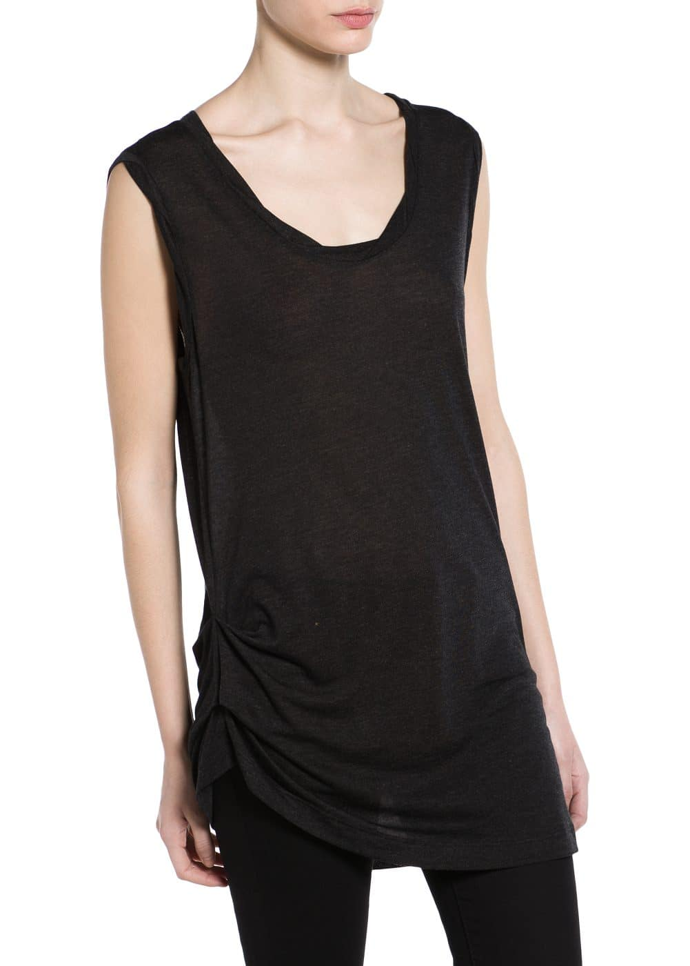 Modal-blend long t-shirt | MANGO