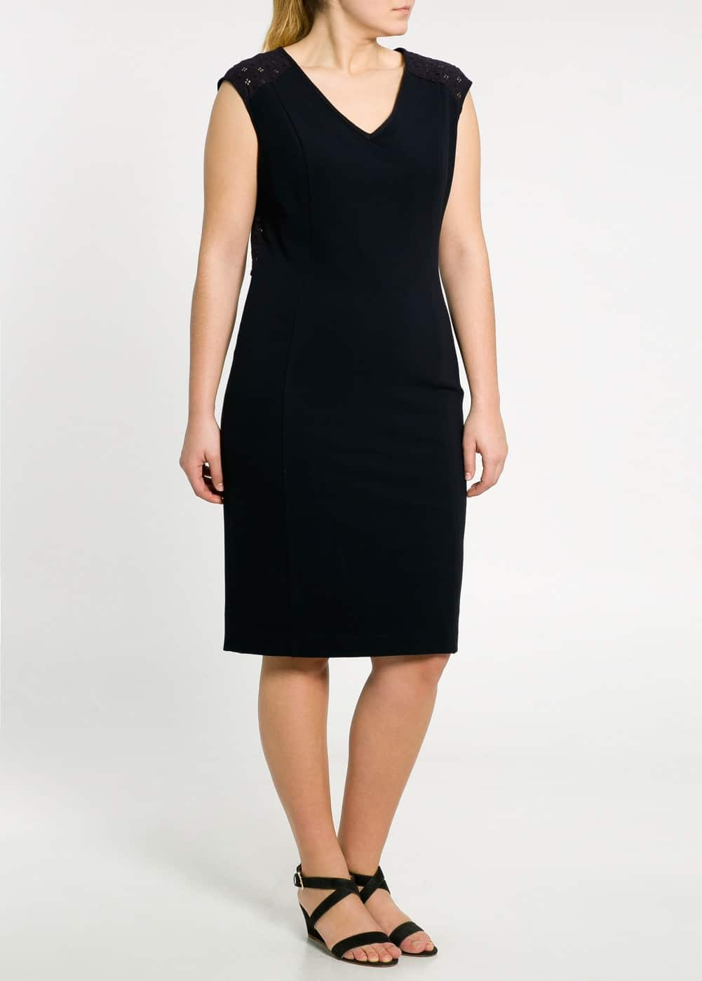 Guipure panel dress | MANGO