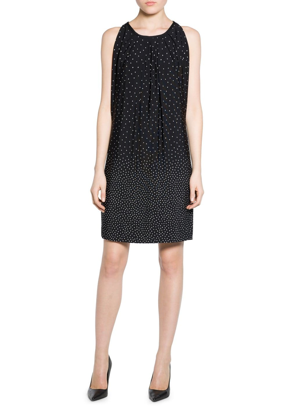 Bow polka-dot dress | MANGO
