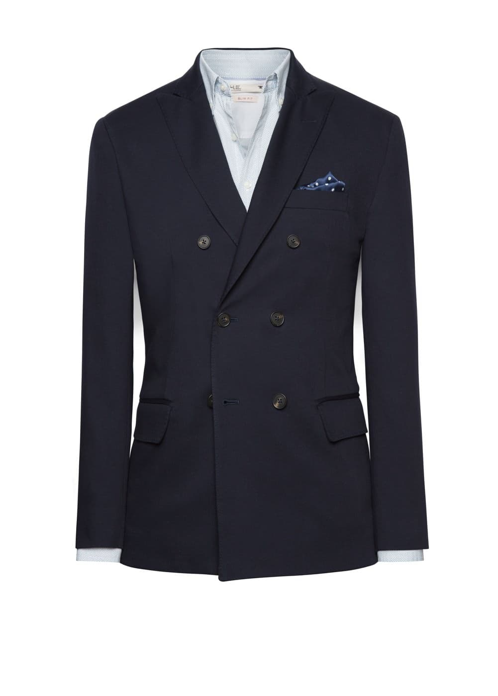 Double-breasted unstructured blazer | MANGO