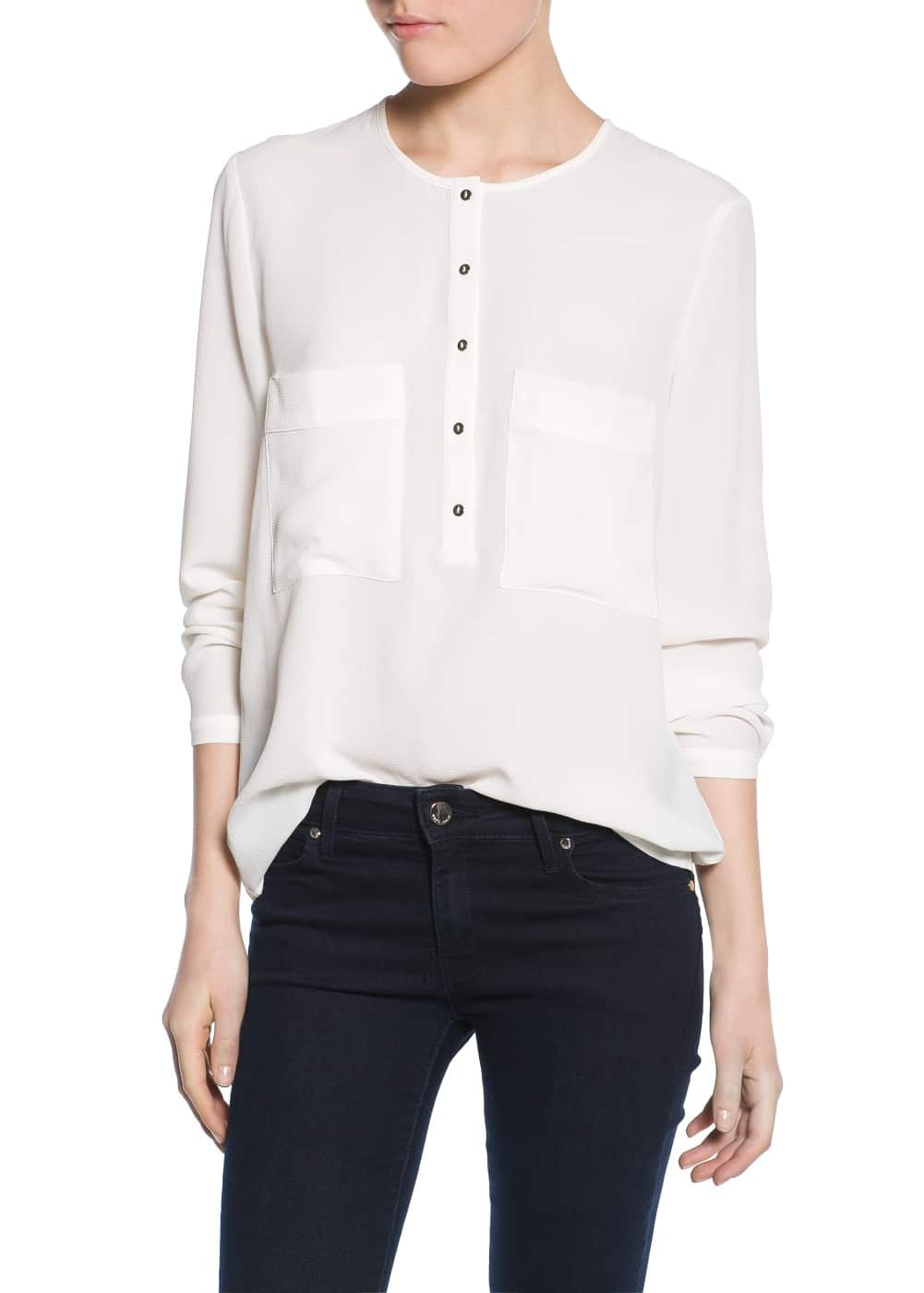 Textured blouse | MANGO