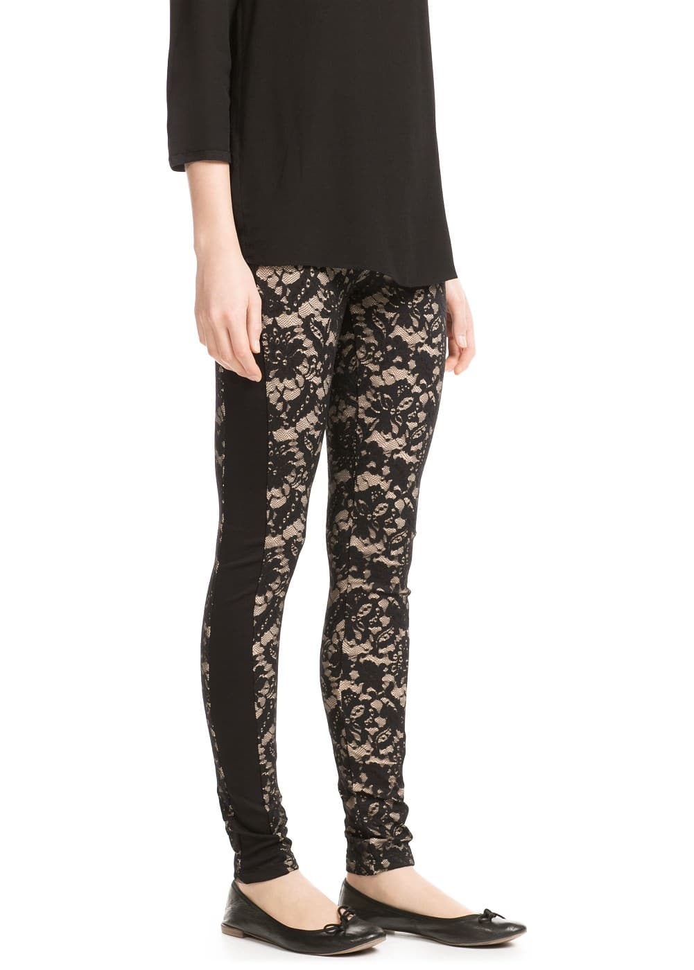Lace leggings | MANGO