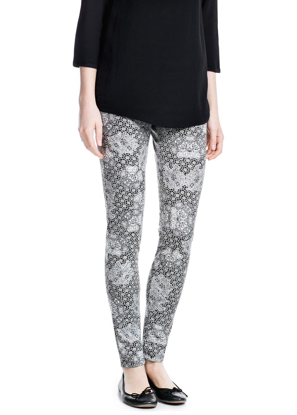 Printed leggings | MANGO