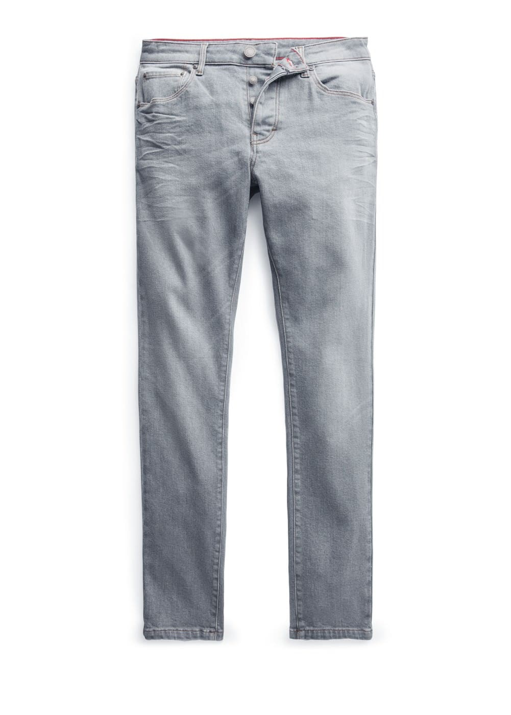 Slim-fit grey tim jeans | MANGO MAN