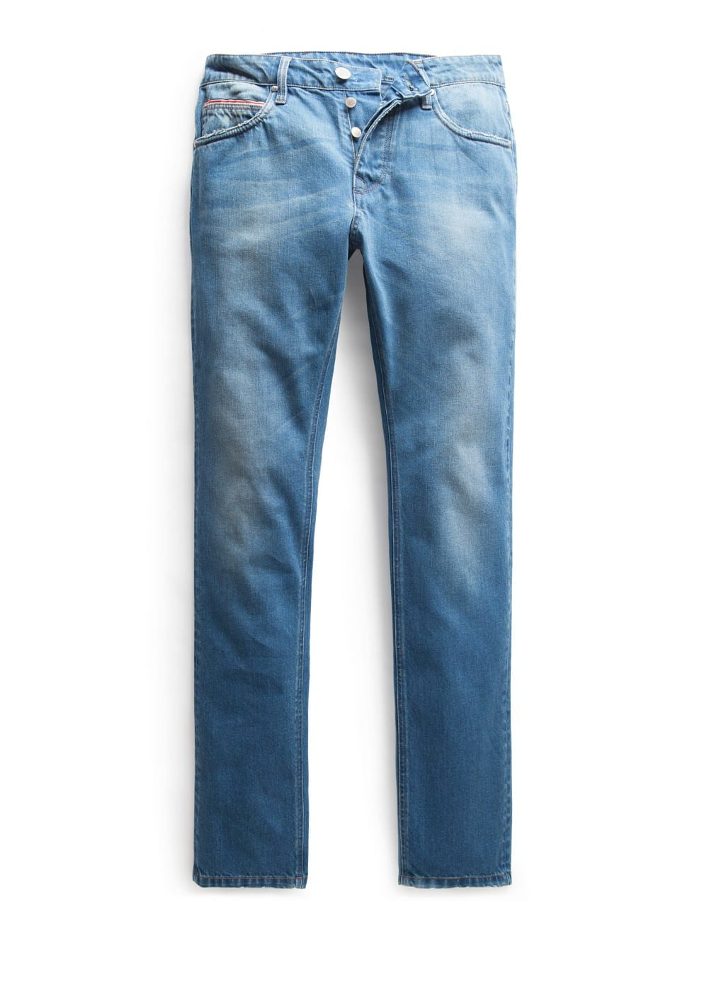 Slim-fit premium medium wash steve jeans | MANGO MAN