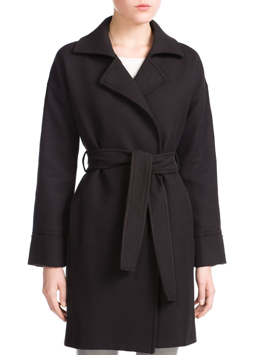 Bow textured coat | MANGO