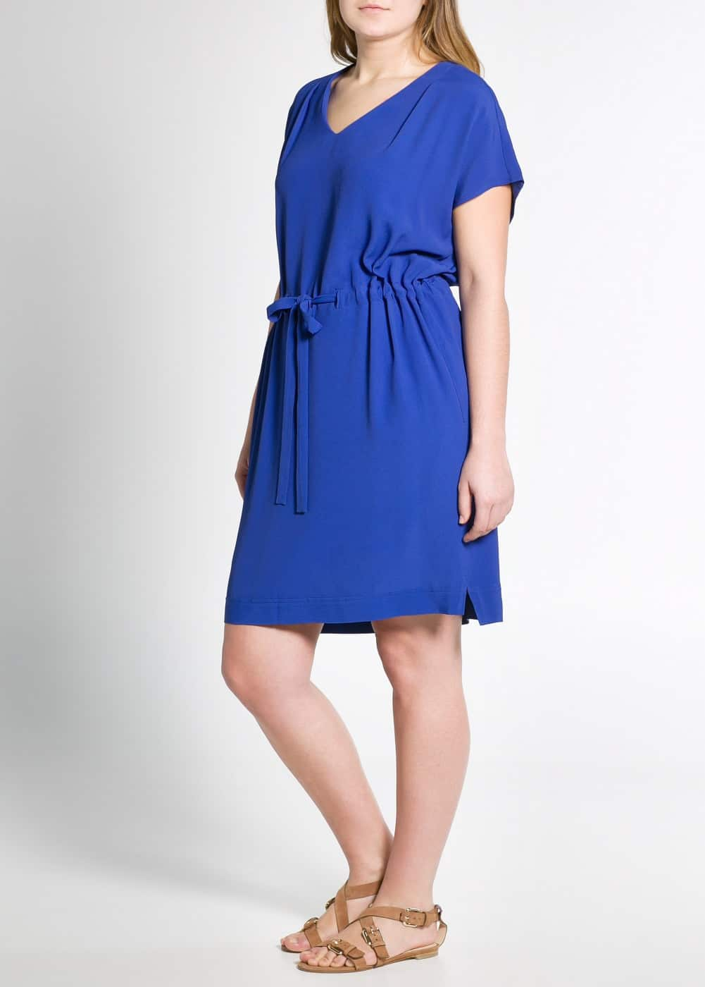 Pleated crepe dress | MANGO