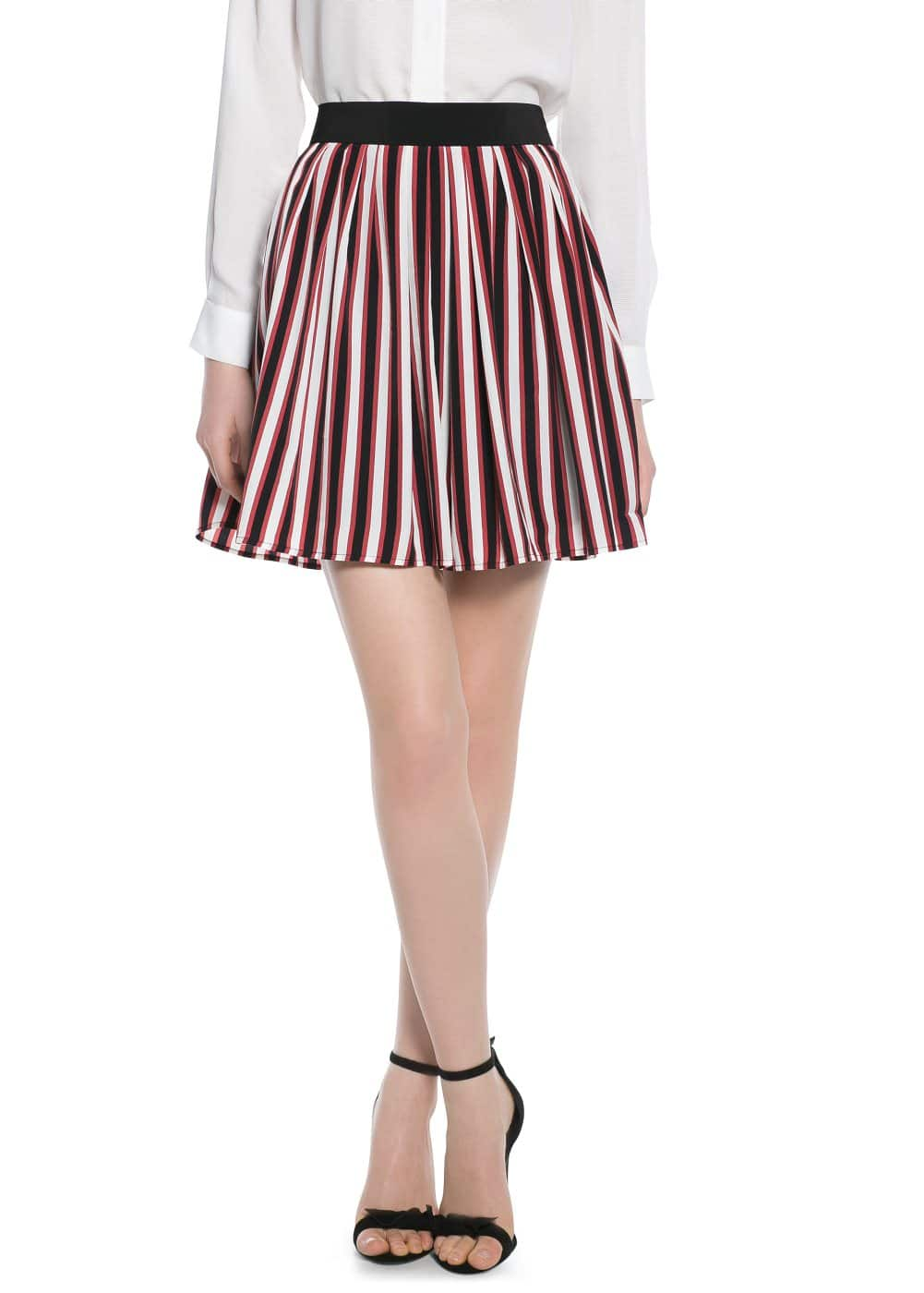Striped skater skirt | MANGO