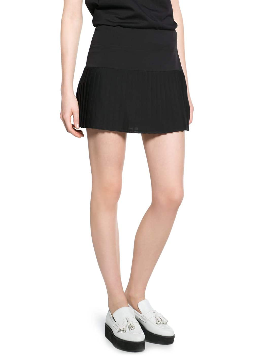 Pleated hem skirt | MANGO