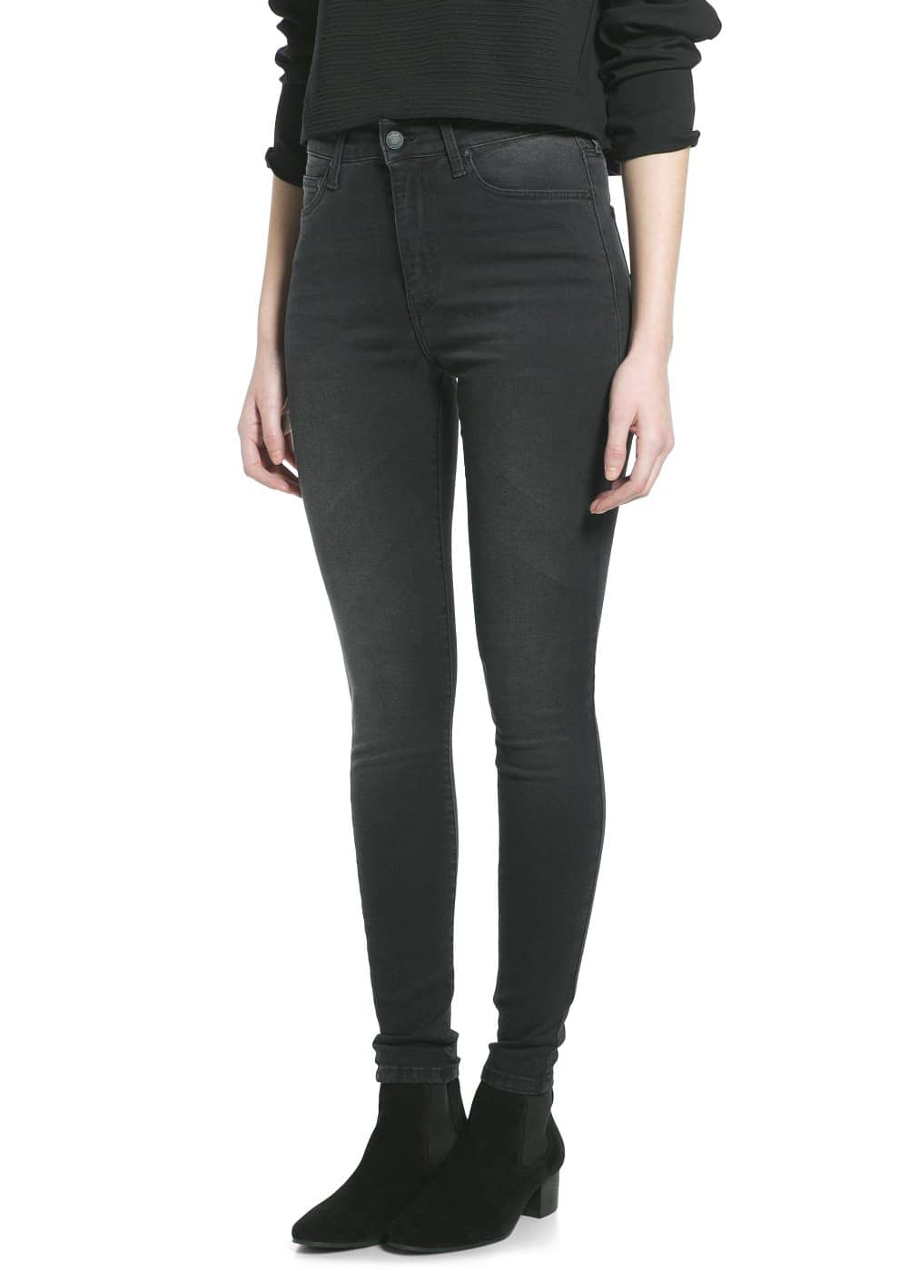 Broadway high-waist jeans | MANGO