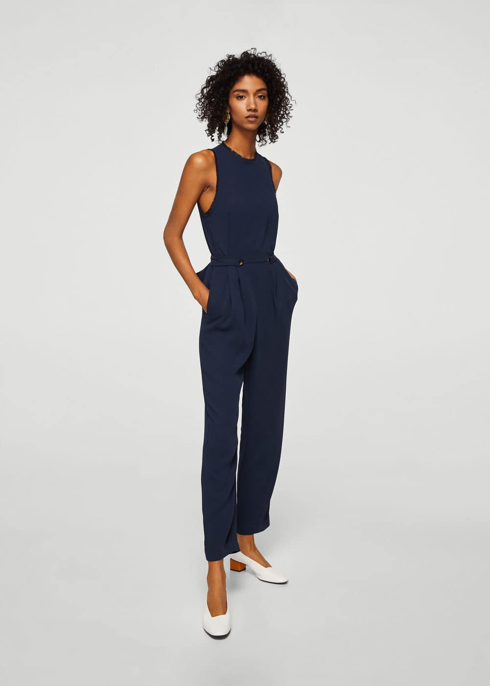 Bow long jumpsuit | MANGO