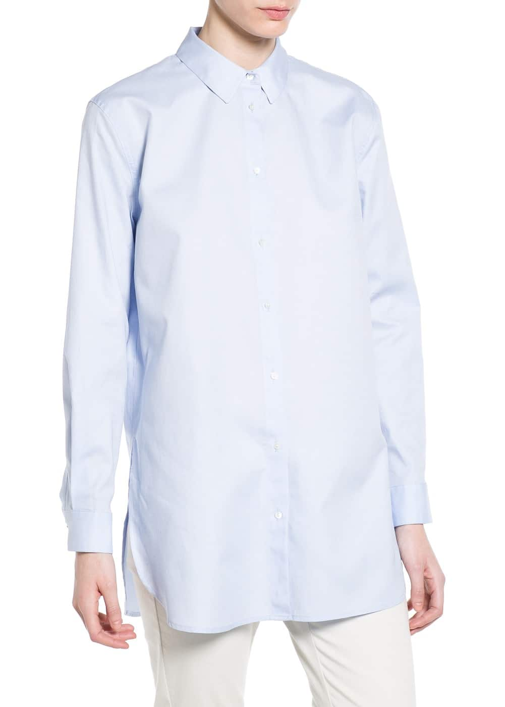 Oversize long t-shirt | MANGO