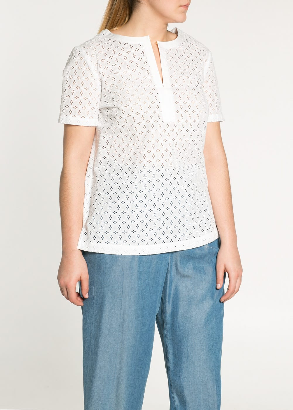 Blouse broderie suisse | MANGO
