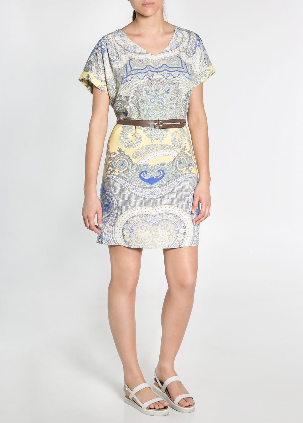 Paisley print tunic dress | MANGO