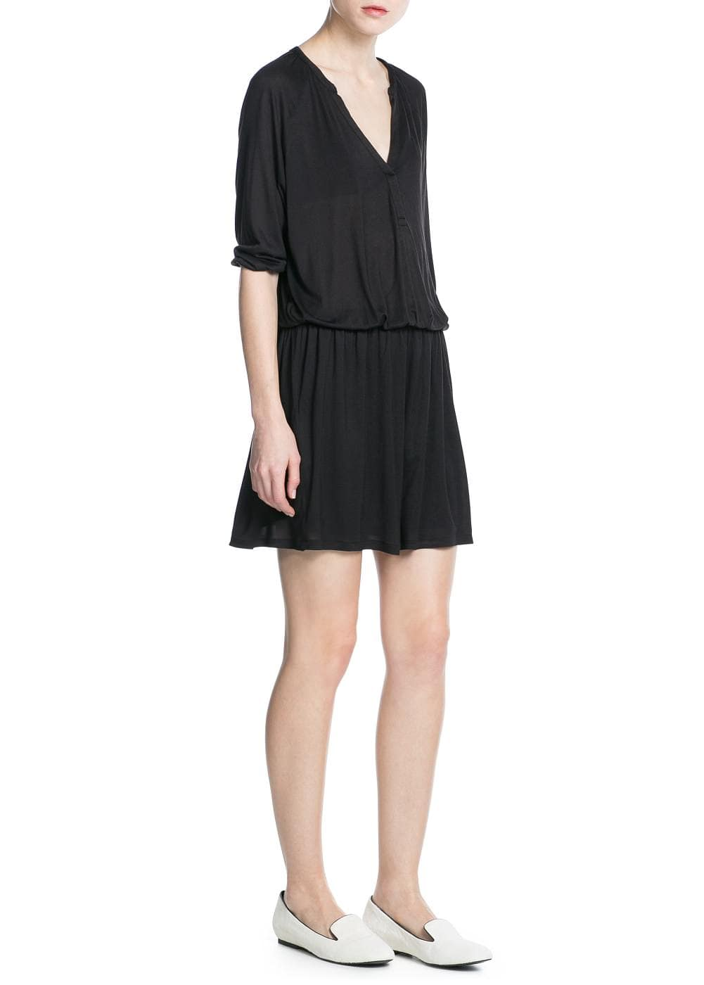 Loose-fit jersey dress | MANGO