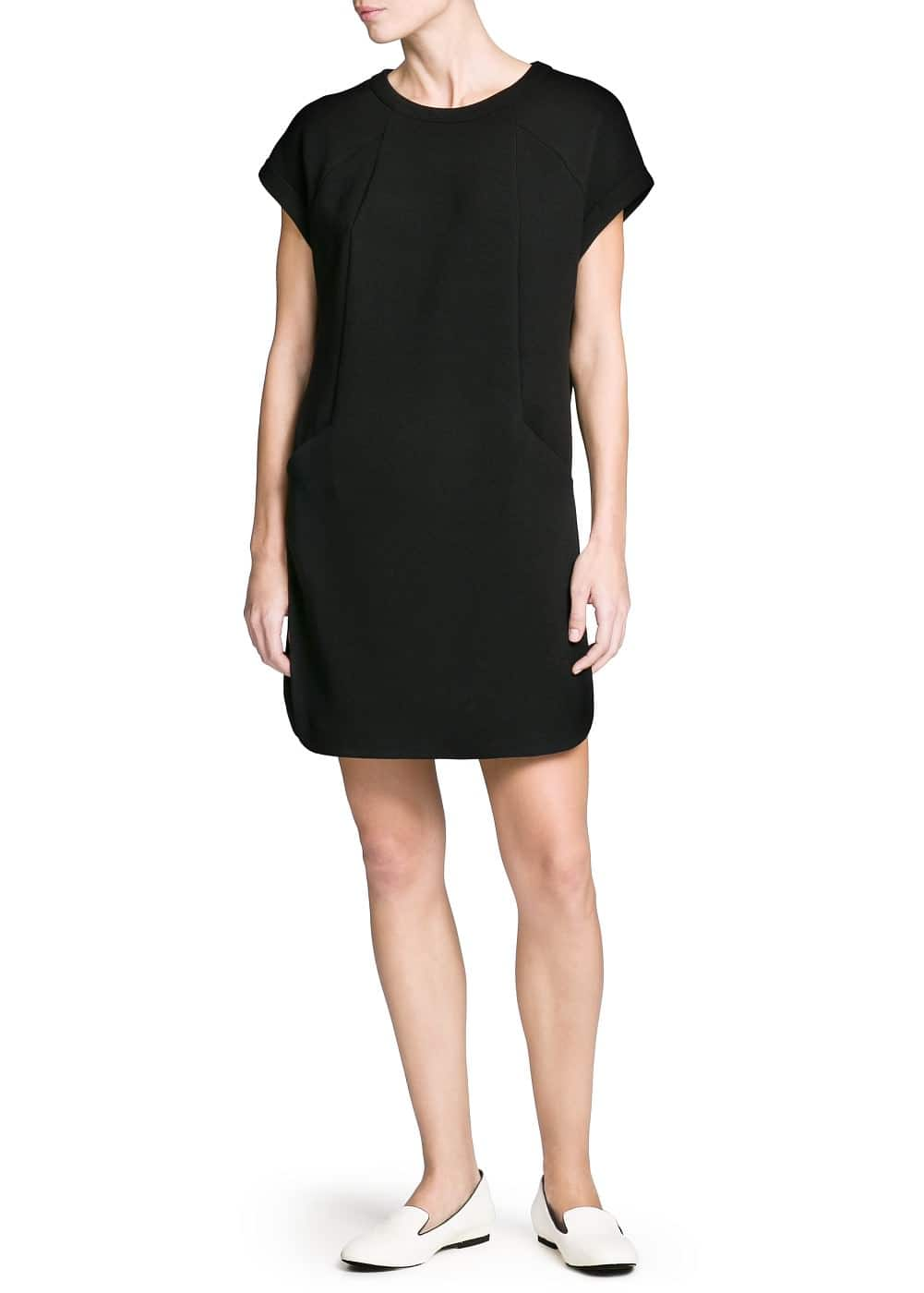 Pocket ponte shift dress | MANGO