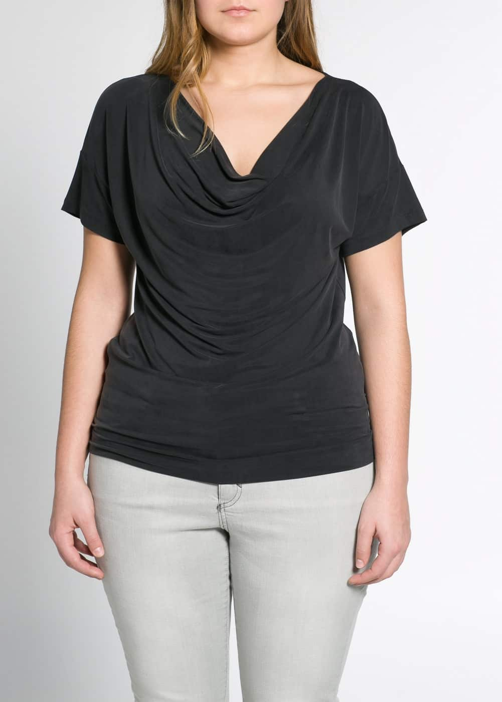 Cowl neck t-shirt | MANGO