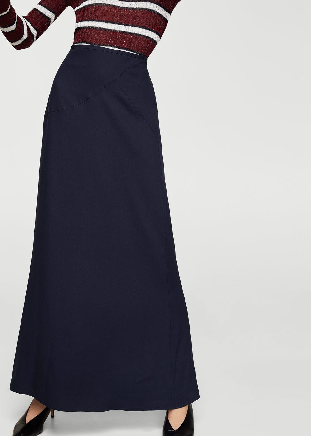 Soft fabric long skirt | MANGO