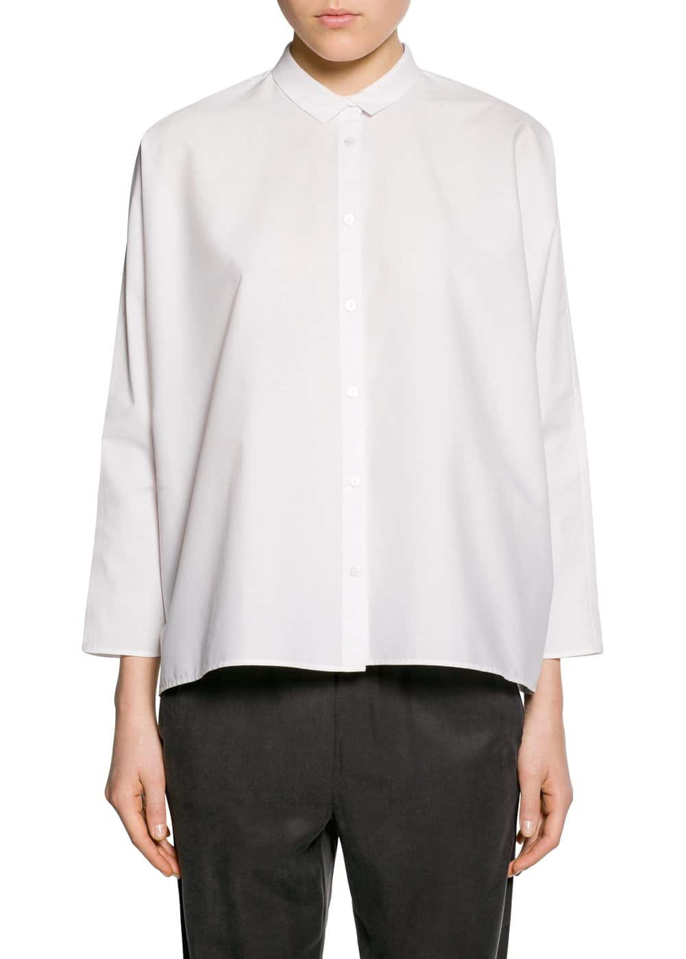 Boxy cotton shirt | MANGO KIDS