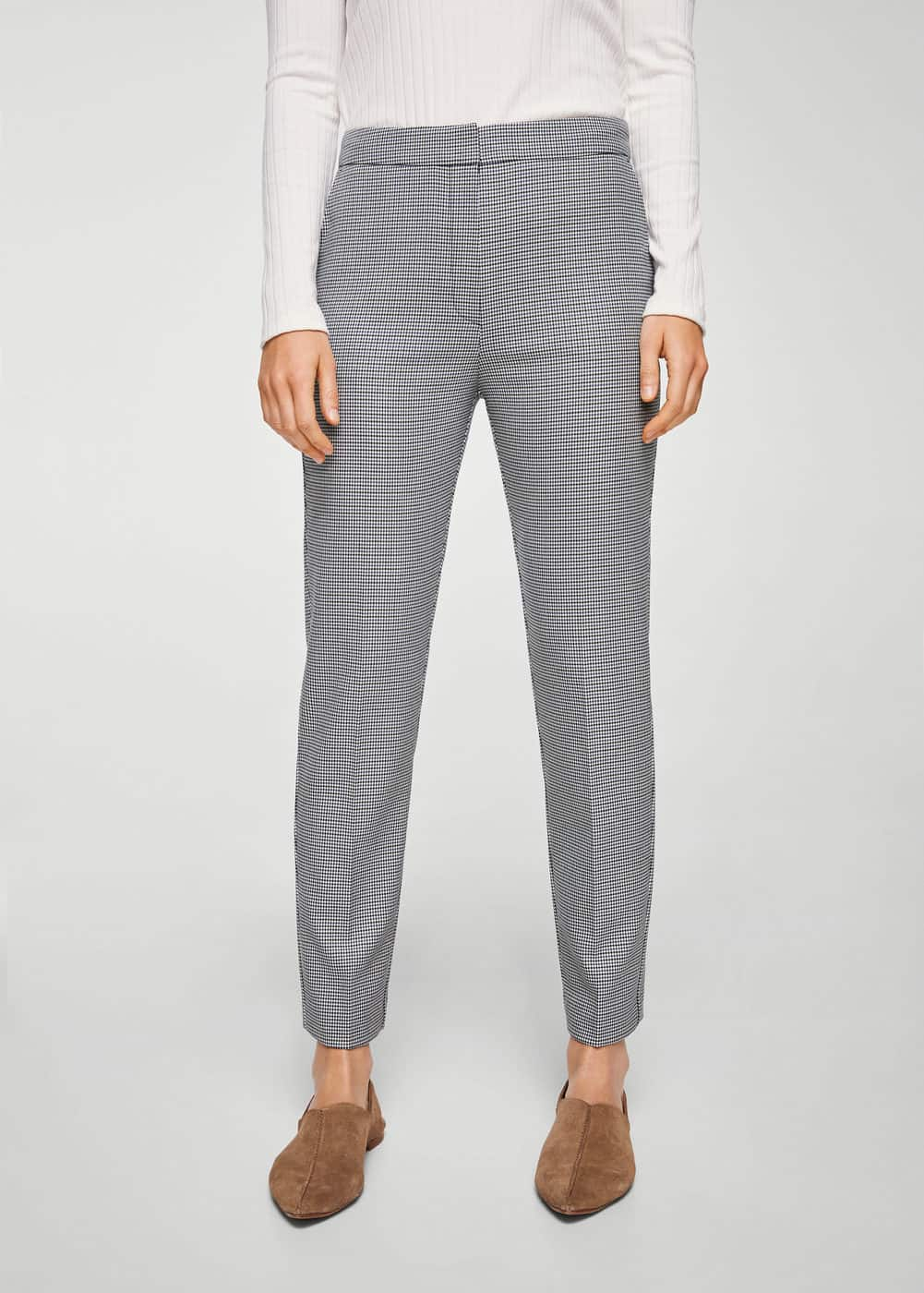 Houndstooth trousers | MANGO