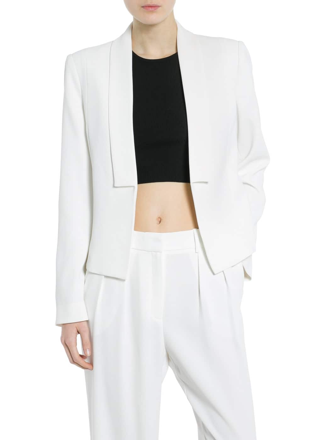 Blazer smoking cropped | MANGO