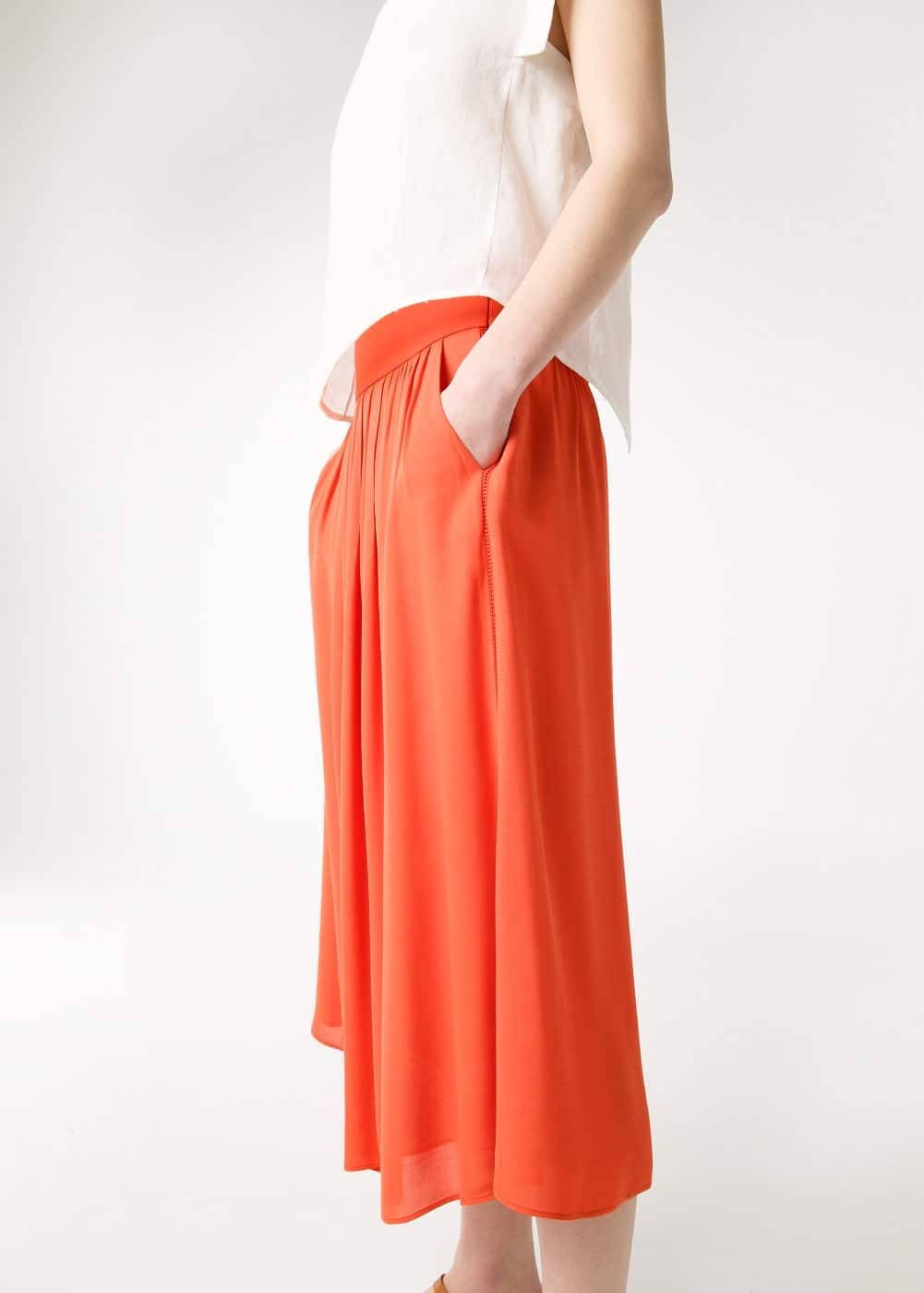Premium - cropped long skirt | MANGO