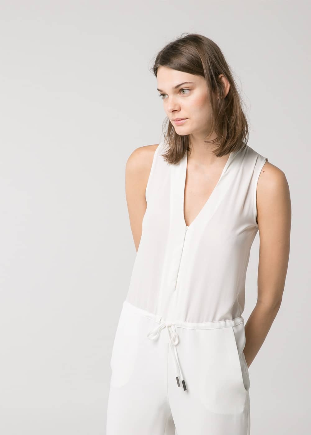 Crepe long jumpsuit | MANGO