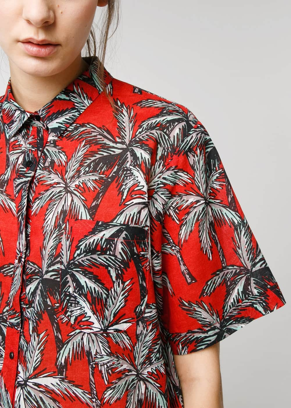 Palm print shirt | MANGO