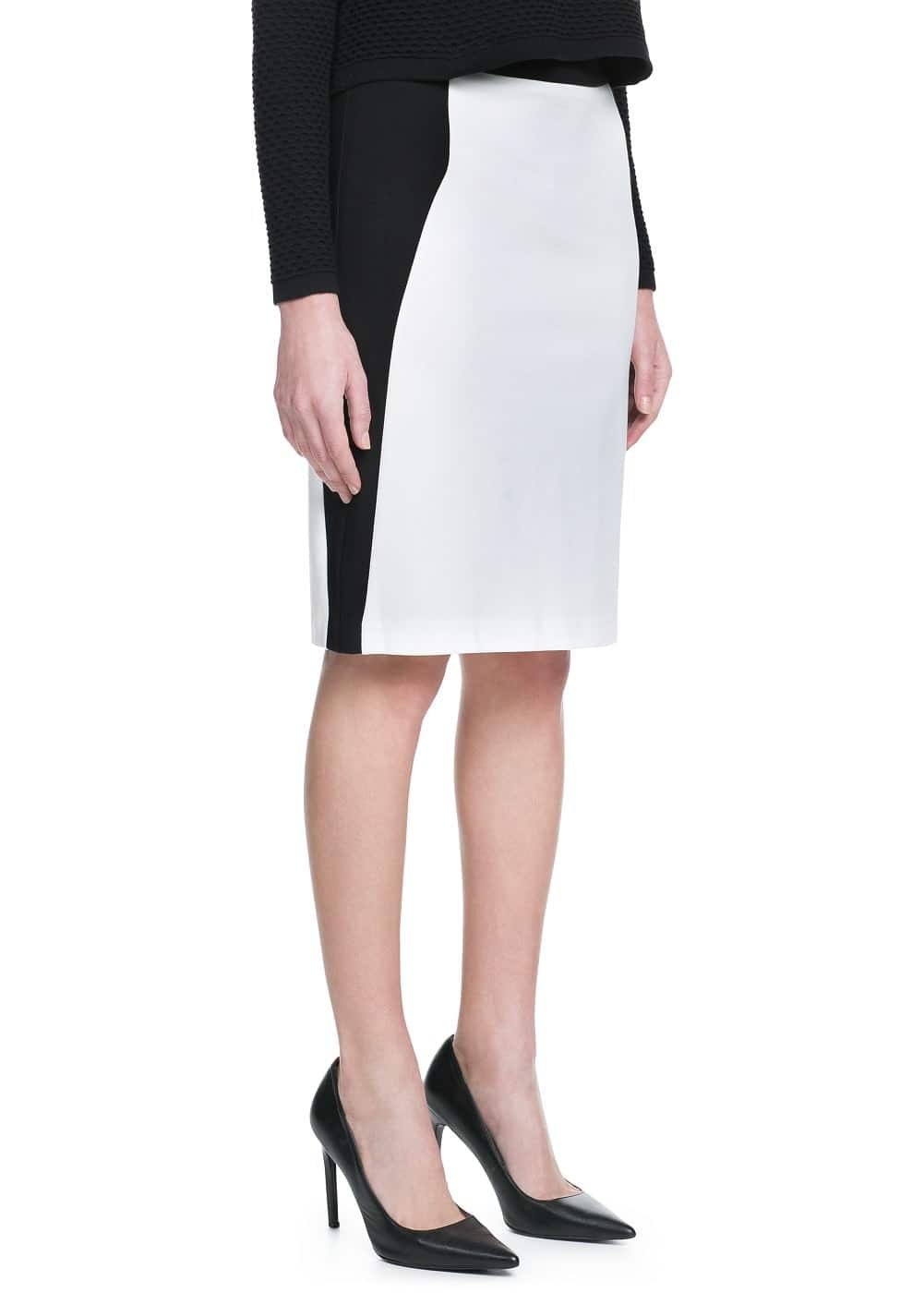 Monochrome pencil skirt | MANGO