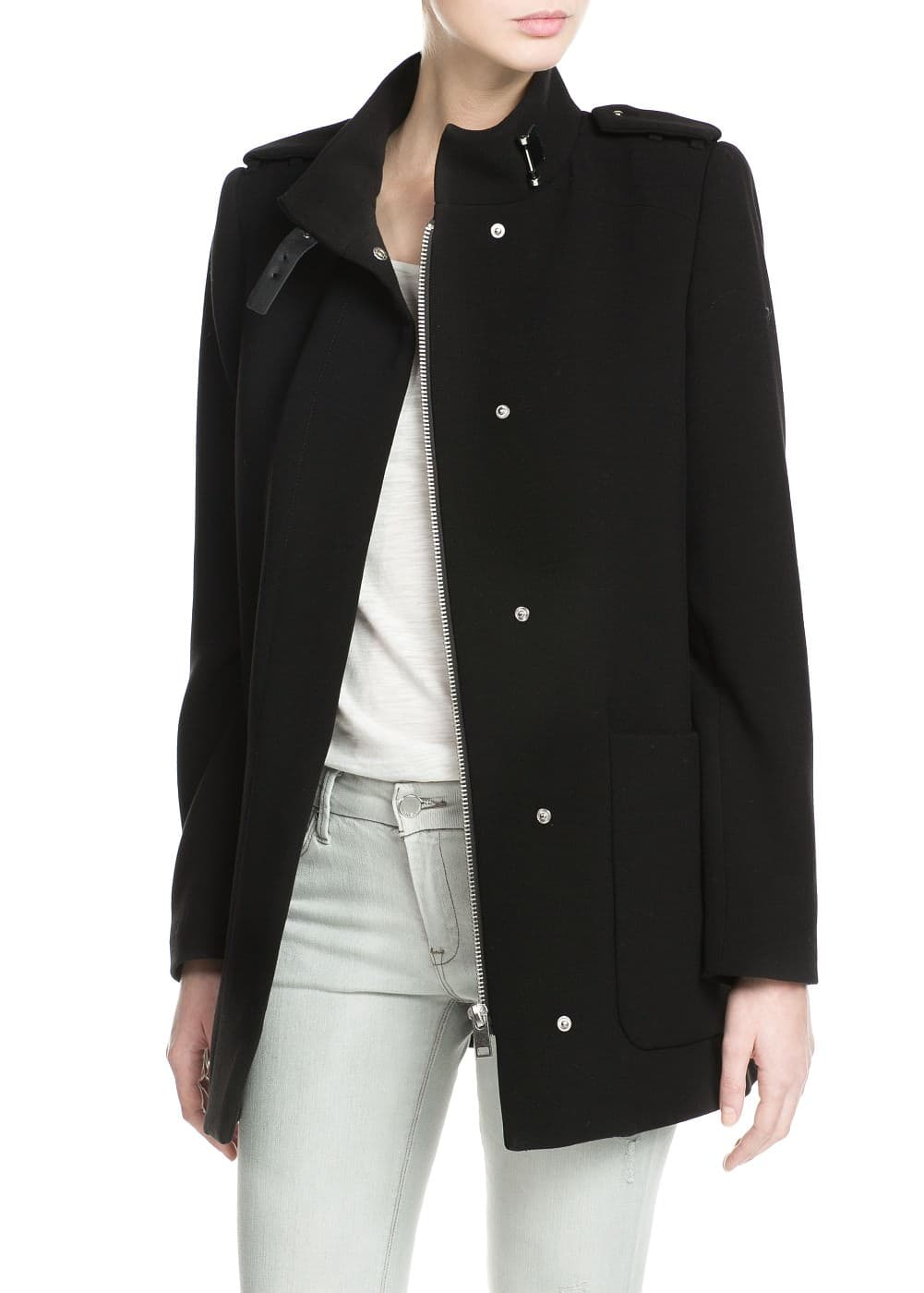 Two-pocket straight-cut coat | MANGO