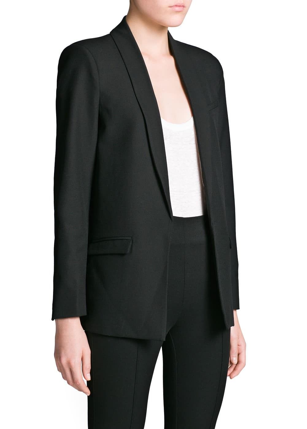 Essential straight-cut blazer | MANGO
