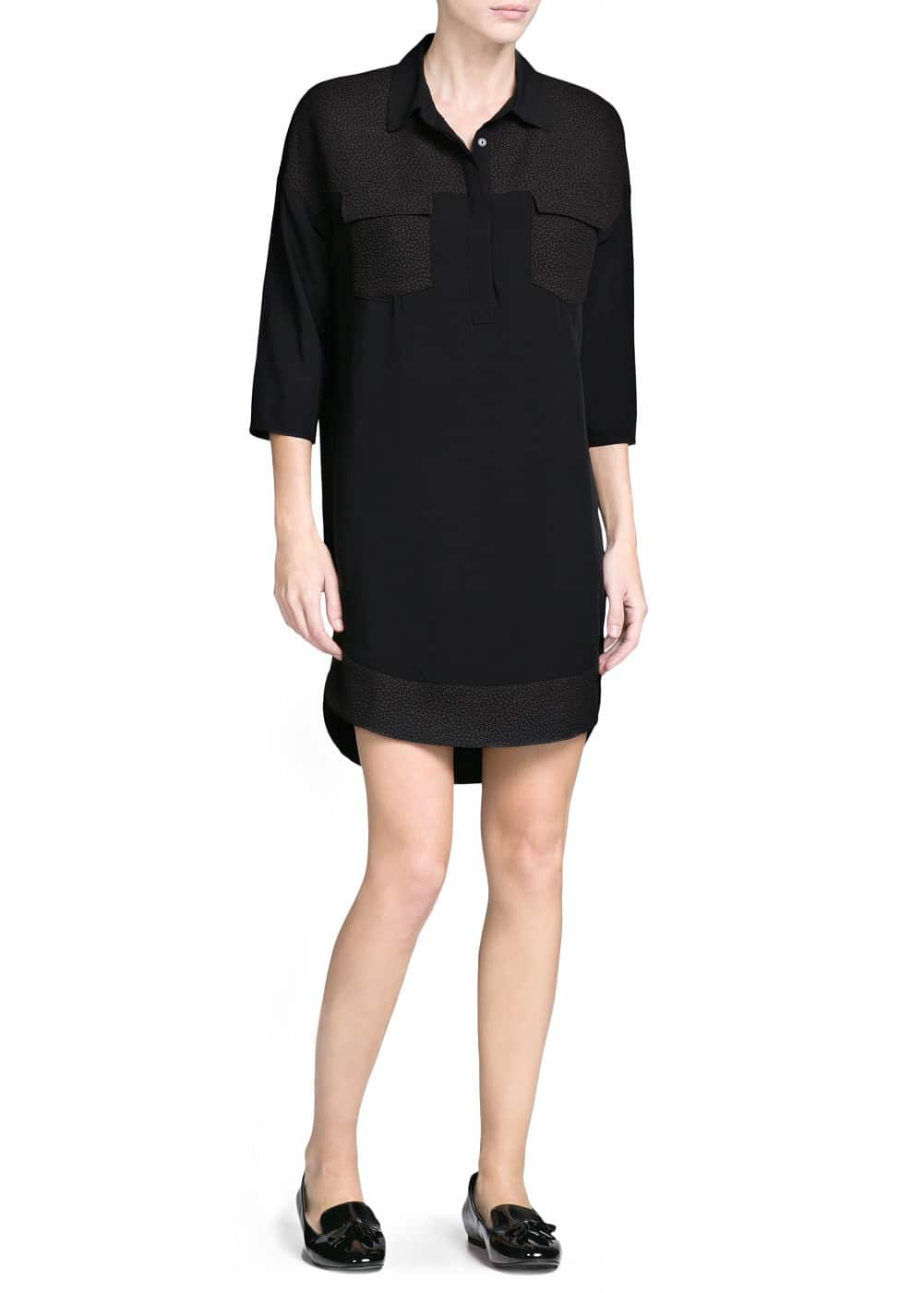 Jacquard shirt dress | MANGO