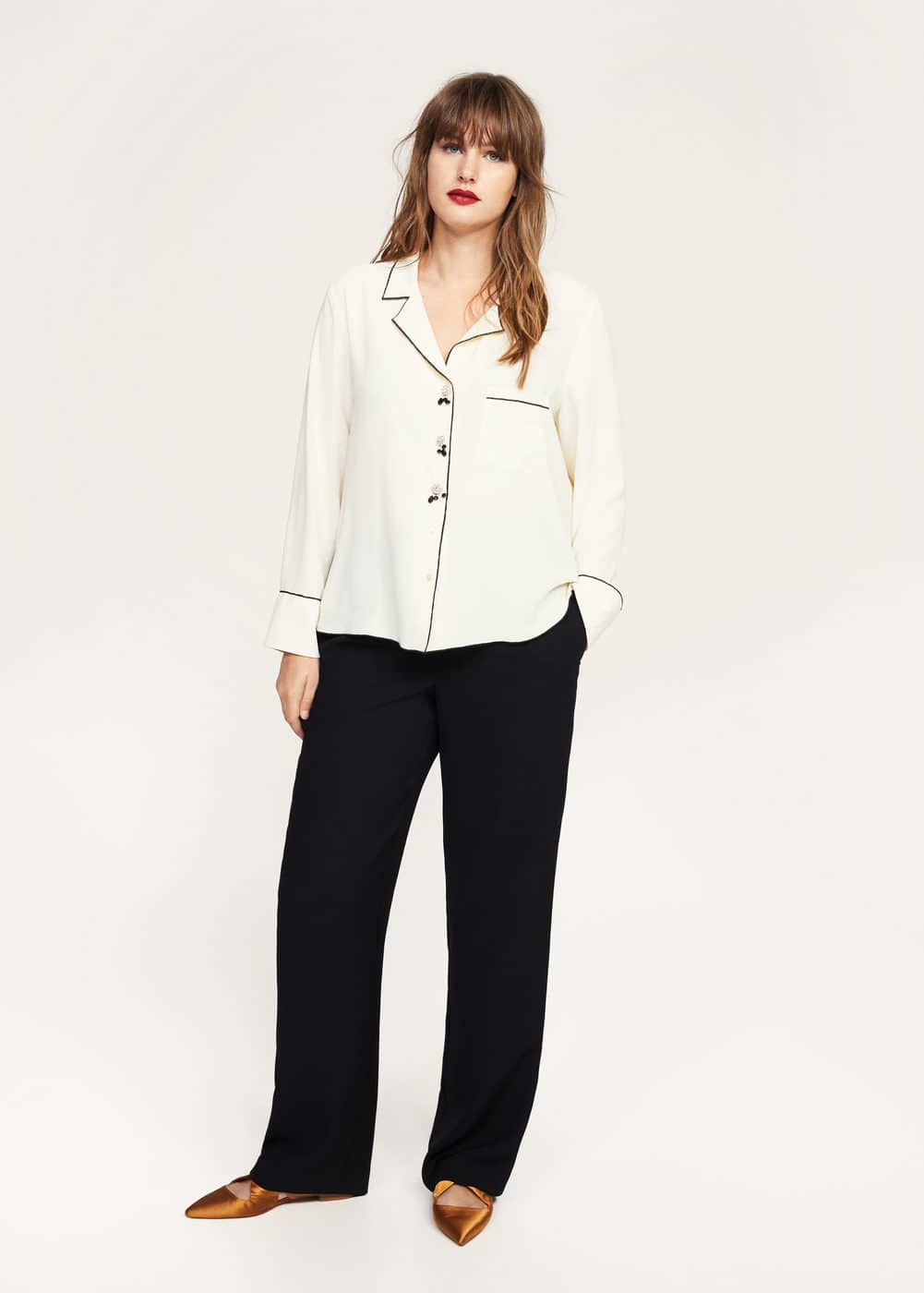 Crystal buttons blouse | MANGO