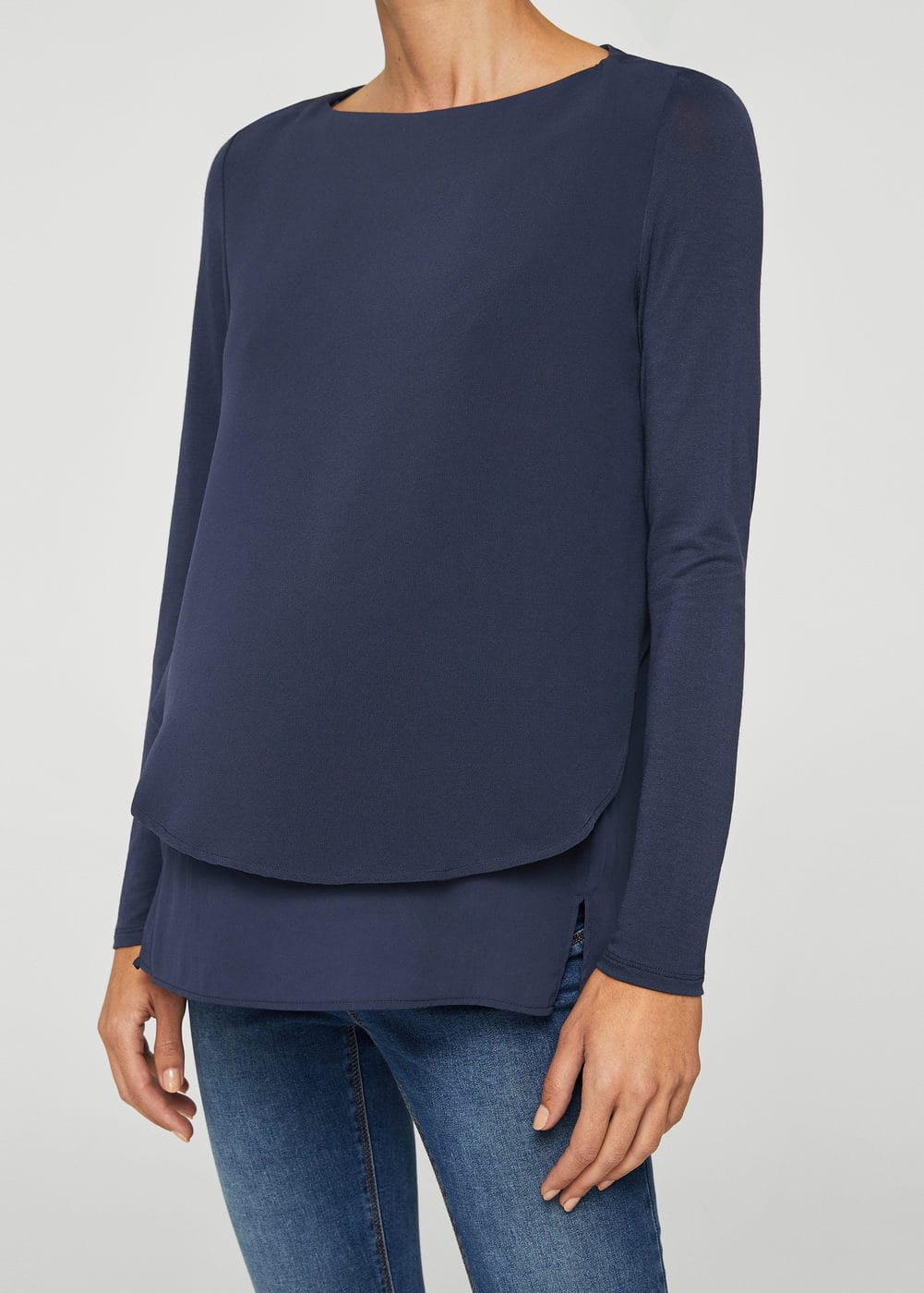 Double-layer blouse | MANGO