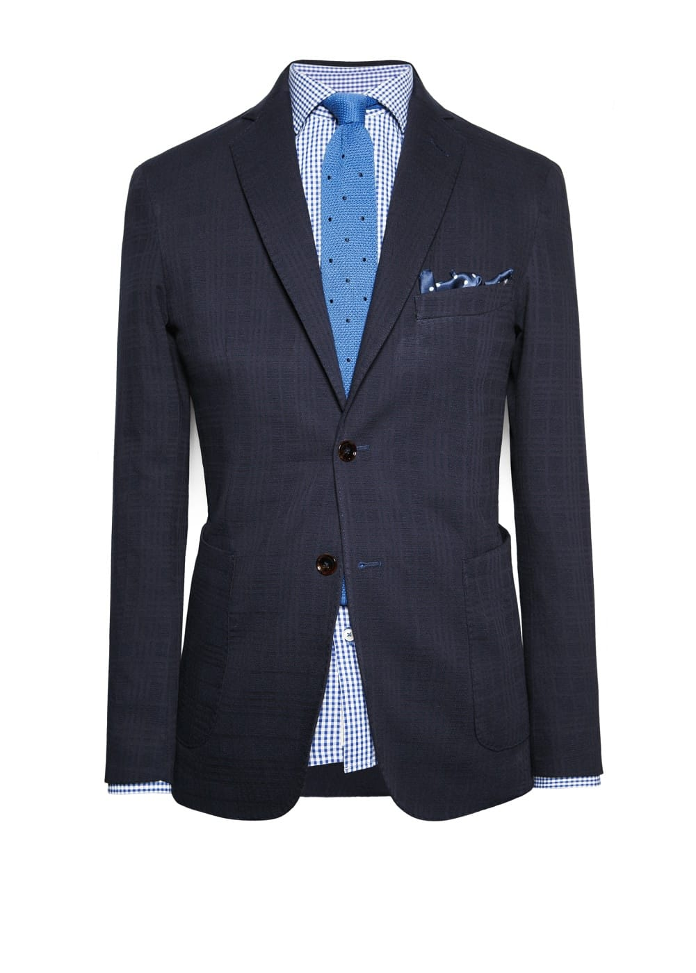 Check textured blazer | MANGO